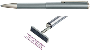 SILVER PEN/STAMP